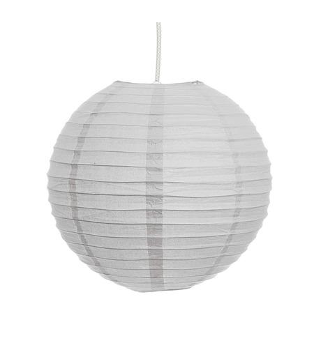 White Hanging Paper Lantern-Round Globe