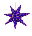 Purple Hanging Paper Lantern-Star
