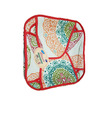 Traditional Roti Box - Bread Cover - Traditional Pattern with Red Outline
